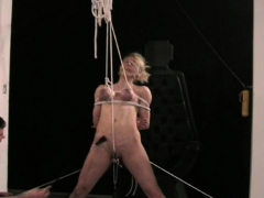 Enslaved Beautiful Chick Tit Punishment Sadomasochism