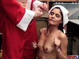 Santa detective fucks latina thief Katya Rodriguez