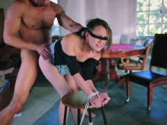 Blindfolded Teen Alex Moore Gets Punished By A Huge Dick