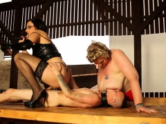 Mature Ssbbw Plowed In Threesome