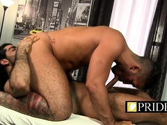Hairy Ass Bloke Likes To Get A Sensual Rimjob