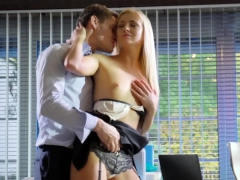 Hot Blonde Babe Cayla Lyons Fucks Her Coworker In The Office