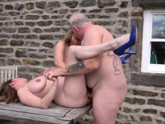 2 Busty Mature Milfs Fucked Outdoors
