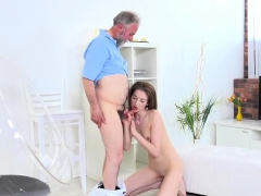 Teen Roxy C Lets Hung Old Guy Screw Her Hard