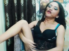 Pretty Shemale Plays Her Ass And Nice Cock