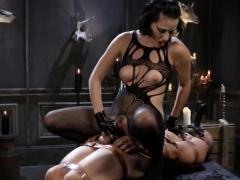 Masked Slave Pleasures His Mistress