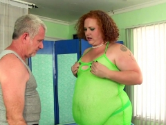 Fat Redhead Has Her Fleshy Body And Cunt Massaged