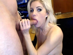pov blowjob from a blonde babe girlfriend in homemade video THE BEST HD 720 PORNO