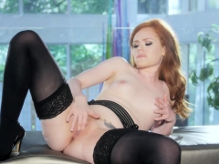 British Babe Ella Hughes In Stockings