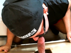 Daddy Gets Blown Away At The Gloryhole