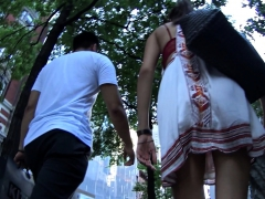 For upskirt outdoor voyeur