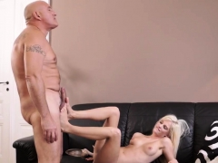 Old Man Stud Horny Blonde Wants To Try Someone Lil' Bit