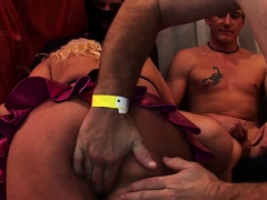 Amateur Banged In Orgy