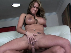 Busty slut gets her asshole plunged hard