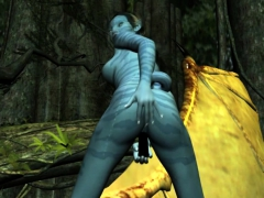 Neytiri Masturbates In The Forest