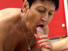 Granny Sucks Dick Outside