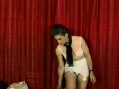 Muffled Asian Beauty Gets Her Milk Cans Pinched Bdsm Style