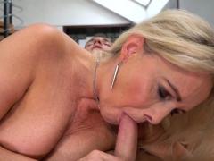 sexy grandma blows penis