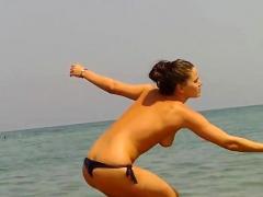 Compilation Amateur Topless Beach Voyeur Porn Video