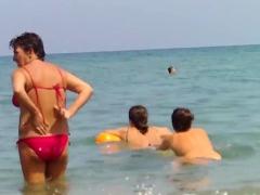 Topless European Teens Voyeur Beach Video