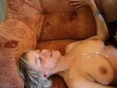 UK Amateur Slut Milf Takes a Load