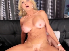 Busty Mature Blonde Got Fucked By A Stud
