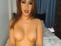 Busty Tranny Babe Masturbating Ass And Cock