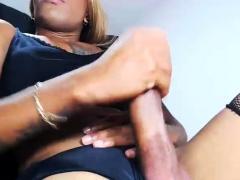 Black Ebony Tranny Shemale Eager Solo Sex