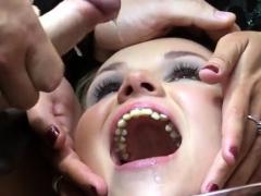 Hot Pornstar Bukkake With Swallow