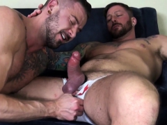Large penis gay anal sex and facial