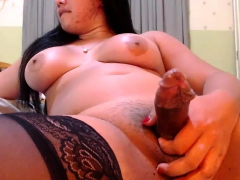 Creampie For A Yummy Tranny In Stockings