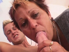 well-shaped stud bangs her shaved old vagina granny sex movies