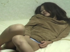 fuzzy asian babe rubbing PornBookPro