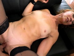 Stockinged Old Lady Blows Porn Video