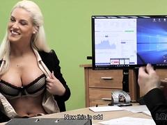 Loan4k. Blonde Goddess Offers Her Wet Slits For…