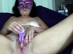 Curvy Fat Granny Solo Masturbation