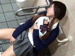 pretty asian woman rubs