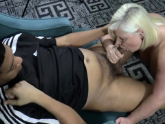 Busty Grandmother Sucks