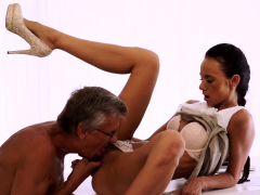 old4k. flawless secretary seduces old man to get another…