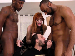 hung black men sharing a bi curious man in front of his wife