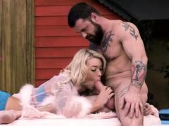 TS Aubrey Kate receives hot cum after hard anal