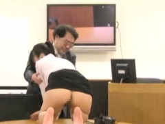 everybody likes kneading her sexy large brests on work