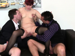 redhead office milf gets her old pussy licked and fucked
