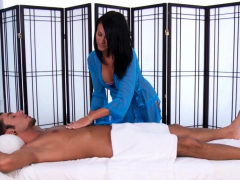 masseuse in heels gobbles