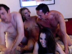 amateur girl in group sex and cumshot fun HD