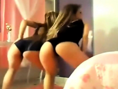 two amazing brazilian twins shake their ass