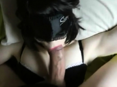 masked pale amateur lingeries bj & fuck huge dick (wheelsex)