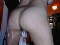 Real Asian Hotel Maid Made A Creamy Mess