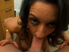 lusty busty brunette girlfriend persia blows well