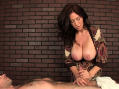 Busty Milf Masseuse Ruining Patients Orgasm